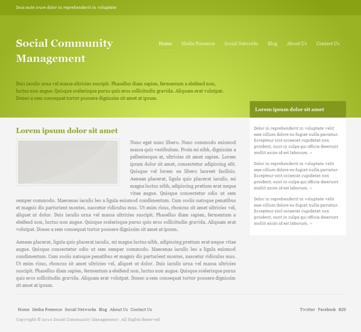 Social Community Management Layout 2