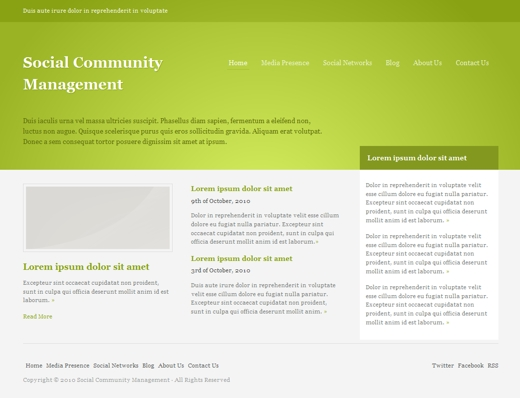 Social Community Management Layout 1